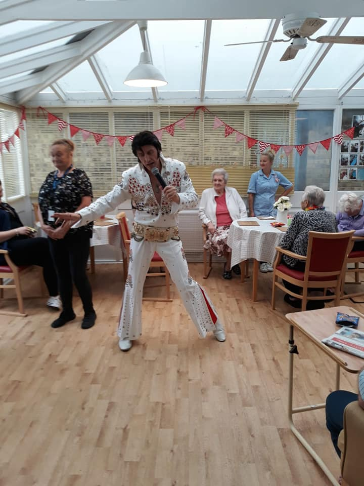 Nursing care home Elvis Impersonator