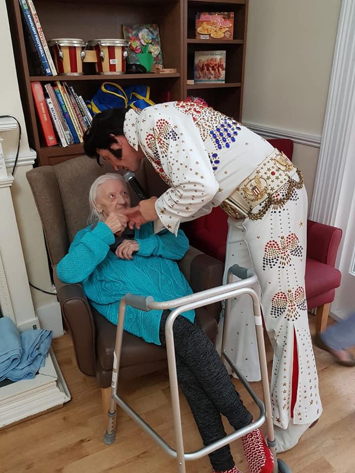 Elvis entertain dementia nursing care