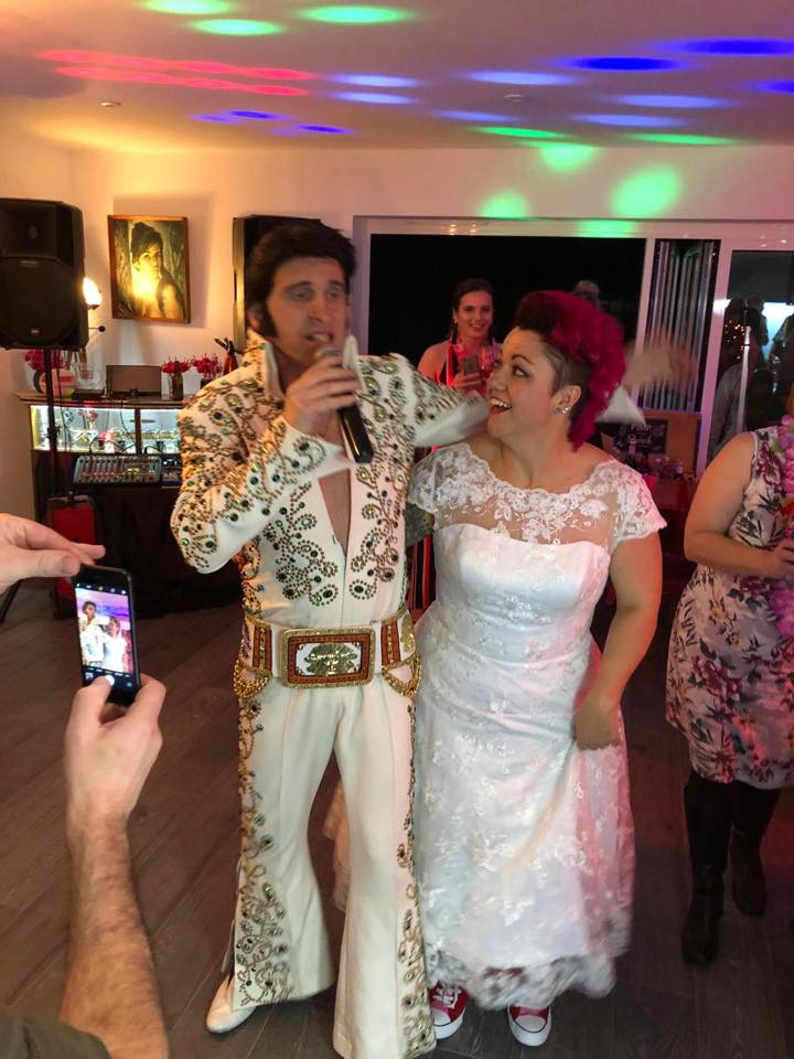 Elvis with bride