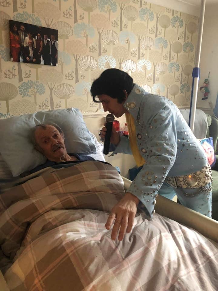 Elvis Impersonator Bedside Visit