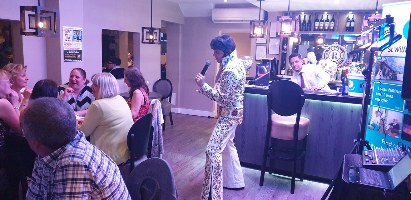 ELVIS IMPERSONATOR – Shades of the King INDIAN RESTAURANT