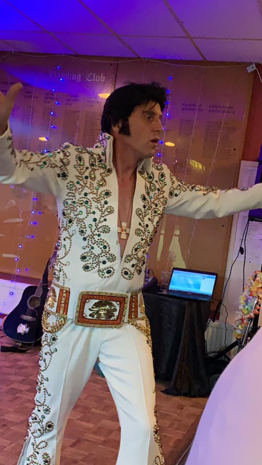 Elvis Impersonator And A Vinyl Dj Great Entertainment In